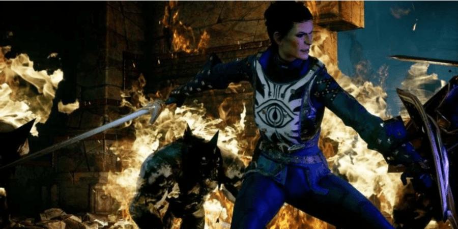 Dragon Age Inquisition - Кассандра сражается с даркспауном