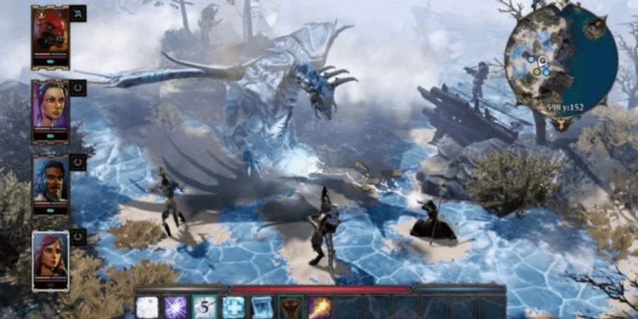 Divinity Original Sin 2 - Игрок и команда сражаются с драконом