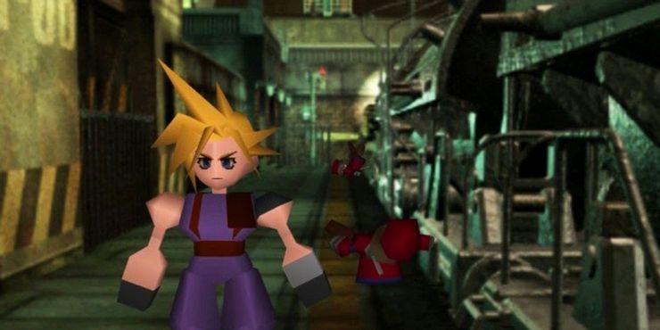 Final Fantasy VII - Клауд стоит в коридоре