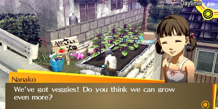 Persona 4 Golden - Нанако рассказывает о своем огороде